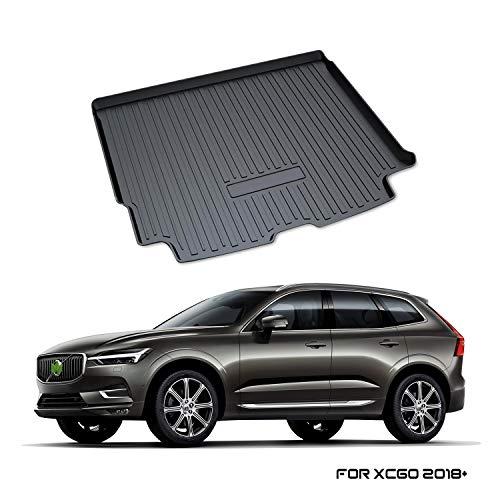 YEE PIN Kofferraummatte für Volvo XC60 SPA 2018-2019 | Seitenschutz TPO Material Laderaumschale Schutzmatte für Sicheren Transport von Gepäck Rutschfester Autozubehör