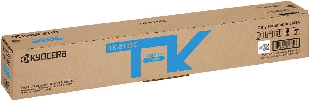 Kyocera Tk 8115c Cyan Original Toner Kartusche 1t02p3cnl0 Kompatibel Für Ecosys M8124cidn Ecosys M8130cidn Bürobedarf Schreibwaren