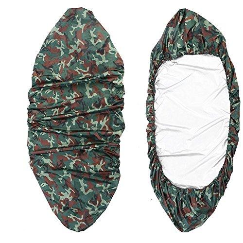 Yundxi Sonnenschutz wasserdichte Boot Abdeckung, Staubschutz Bootsplane, Persenning - 0.6-1M Breite Kajak Kanu Boot Abdeckplane- Camouflage (Geeignet für 4.6-5m Kajak)