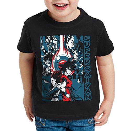 style3 Goku Vegeta Super Saiyan T-Shirt für Kinder Turtle Ball z Roshi Dragon, Größe:140