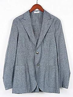 [ボリオリ] 2B シングルテーラード ジャケット ネイビー 220-31706 イタリア製 シルク 麻 メンズ
