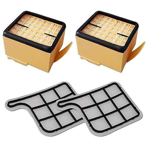 RETTI Filterset 2 Motorschutzfilter (Motorfilter) + 2 HEPA (Mikro) Filter/Mikrofilter/Hepafilter Geeignet Fuer Vorwerk Kobold VK 135, 136, VK135, VK136