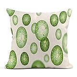 Kinhevao Dekokissen Single Cell Algae Lipid Droplets Biokraftstoffproduktion von Mikroalgen unter dem Mikroskop White Linen Cushion Home Decorative Pillow