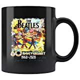 N\A 60th Anniversary The Beatles-Rock Band 1960 2020 Vintage Abbey-on Road Tazza Nera