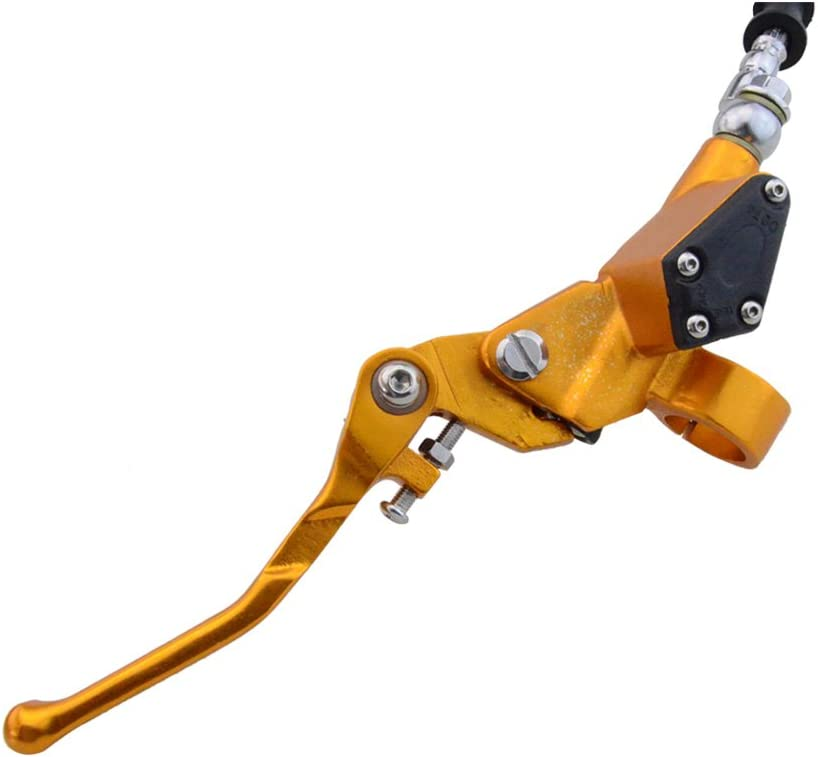 GOOFIT 7//822mm Motorcycle Hydraulic Clutch Brake Lever 1200mm Master Cylinder for 125cc 150cc 180cc 200cc 250cc Vertical Motor Off Road Motorcycle Scooter Pit Pocket Bike Motocross Yellow
