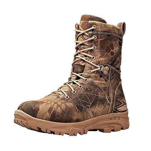 MNSSRN-MM High-Top-Tarnung Wolle Stiefel, dicke rutschfeste Warm-Baumwollschuhe, verschleißfeste Winddichtes Männer Arbeitsschuhe, Schneeschuhe,Tarnen,45