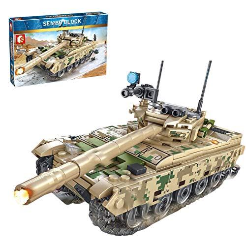 CYGG Bloques de construcción de Tanques Militares, 432pcs Military VT-4 Tank Arma del ejército Modelo de Tanque de Juguete para niños Adultos compatibles con Lego
