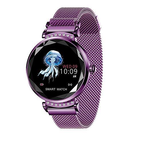 Lucun Relojes inteligentes, rastreador de actividad física que recuerda una variedad de seguimiento deportivo, podómetro, calorías para mujeres, morado