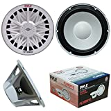 SUB SUBWOOFER SEA WATER PROOF PYLE PLMRW10 10' OF DIAMETER 25,00 CM 250 MM WHITE FOR BOATS BOAT RAFT OR SWIMMING POOL FOR INDOOR AND OUTDOOR, SINGLE COIL OF 4 OHM FROM 250 WATT RMS AND 500 WATT MAX