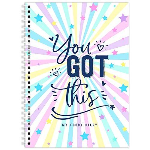 My Foody dagbok kompatibel med viktväktare, WW, 12 månader, vecka till visning, oderad, färgglad, A5, matjournal, tracker, planerare - (regnbåge)
