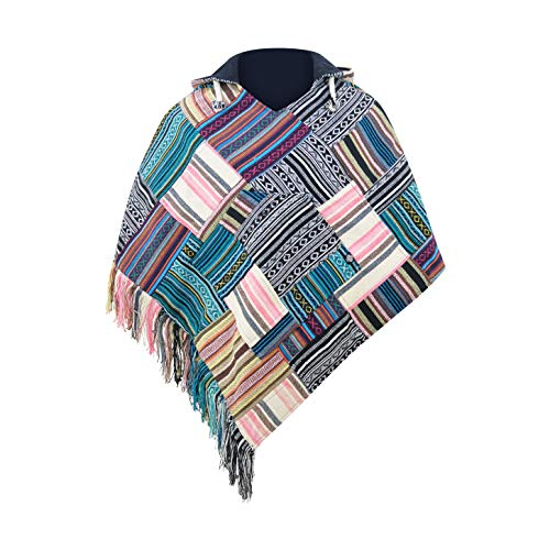 virblatt - Poncho Damen Pullover Ethno Baja Sommer Hippie Kleidung Jacke Alternative - Relaxed PW