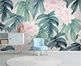 Papel Pintado Hojas Tropicales Flor Papel Tapiz Mural Papel De Pared Foto 3D Papel Tapiz Naturaleza Selva Tropical Florales Murales
