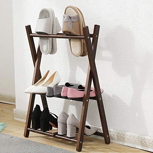 VBARV Organizador de Zapatos Plegable, Zapatero de Madera Simple, diseño Que Ahorra Espacio, fácil de Montar, tamaño, Dormitorio, Armario, Entrada, Dormitorio