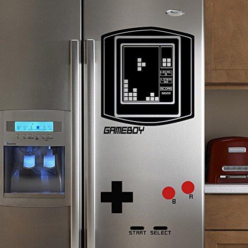 GECKOO Frigorifero Falling Blocchi Boy Retro (Game Boy) Tetris Gioco Vintage Adesivo da Parete in Vinile da Parete 39'H x 18W