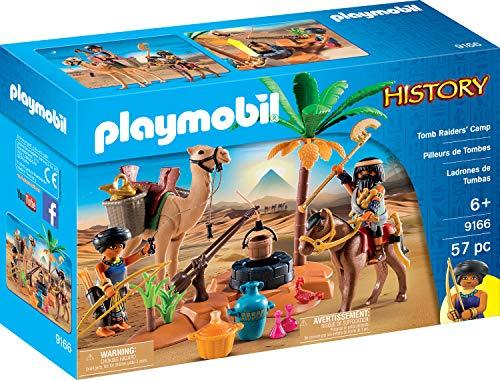 Playmobil 9166 Ägypter Grabräuber-Lager, Mehrfarbig
