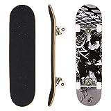 Hikole Skateboard, komplett, Rollbrett aus Holz, 79 x 20 cm, kanadisches Ahorn, 31 Zoll, Rollen 85 A für Anfänger, Kinder und Erwachsene, Farbe: 3