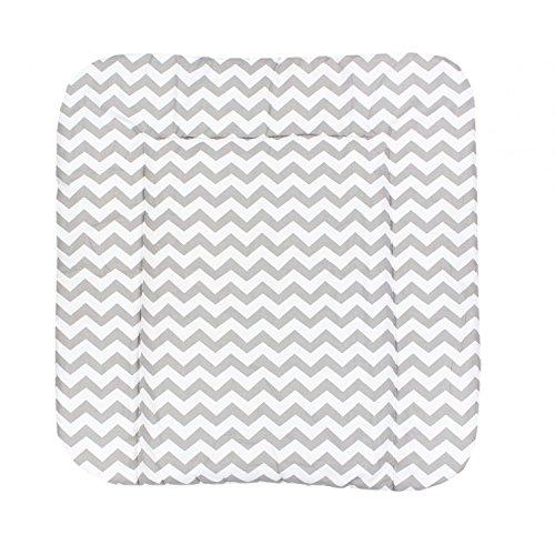 TupTam Colchón para Cambiador para Bebés, Color: Zig-Zag Gris, Größe: 70 x 70 cm
