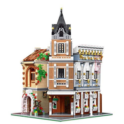 Edificio modular de casa de pueblo de taberna modelo de casa de té, bloques de terminales 3039 Modelo de arquitectura de casa con luces LED, casas modelo de construcción compatible con Lego (16026)