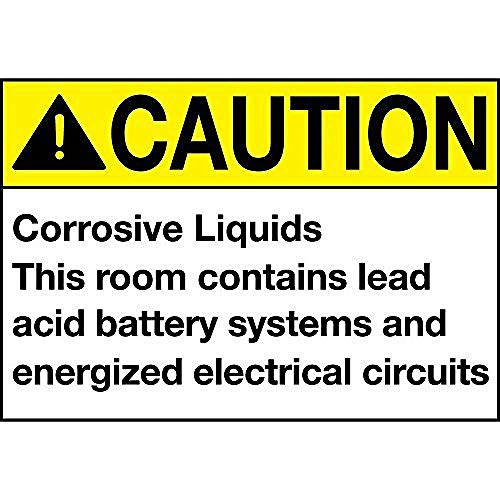 Caution Corrosive Liquids Room Contains Acid Battery Tin Wall Sign Metall Blechschild Garage Cafe Garten Wohnzimmer Küche Plaque Art Poster Metallschild Wand Dekoration