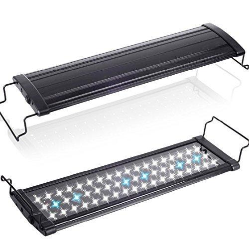 [MEOW MARKET]アクアリウムライト フラット LED ランプ LED400 6.5w 43cm〜60cm水槽 照明 防水 鮮やかに装飾 白 RGB 金魚 熱帯魚 水草 光合成 (超白光LED400)