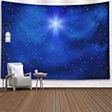 Gesmatic Popular Wall Hanging Tapestry, 80X60 Inches Premium Fabric Shining Christmas Star Night Sky Background Accessories for Home Decoration Bedding Decorative Tapestry,Blue