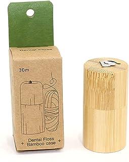 Bamboo Yeah! Bamboo Charcoal Dental Floss | Eco-Friendly Dental Floss | Biodegradable Dental Floss | Refillable Bamboo Con...