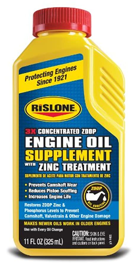 Rislone 4405-6PK Engine Oil Supplement Concentrate with Zinc Treatment - 11 oz, (Pack of 6)