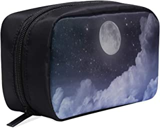 Bolsa de cosm/éticos colgando buenas noches encantadora luna llena bolsa de viaje para hombres bolsa de viaje para hombres bolsa de aseo colgante bolsas de cosm/éticos estuche multifunci/ón bolsas de ma