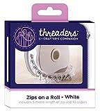 Threaders Cremalleras en un Rollo–Color Blanco