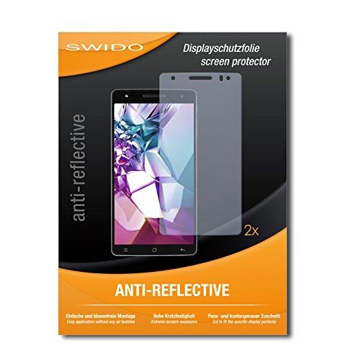 SWIDO Schutzfolie für Medion Life X6001 [2 Stück] Anti-Reflex MATT Entspiegelnd, Hoher Festigkeitgrad, Schutz vor Kratzer/Bildschirmschutz, Bildschirmschutzfolie, Panzerglas-Folie