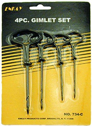 Enkay 734-C Gimlet Set, para, 4piezas