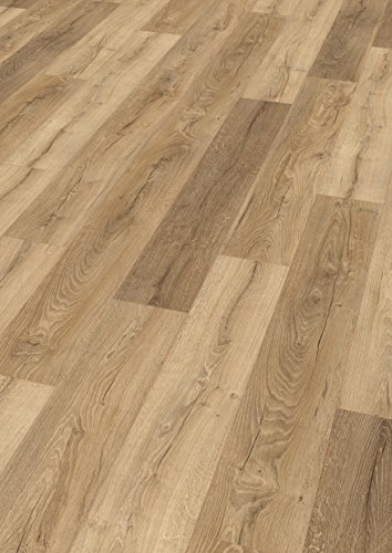 EGGER Home Laminat natur braun Holzoptik - Livingston Eiche natur  EHL049 (8mm, 1,994m²) Klick Laminatboden | Bodenbelag