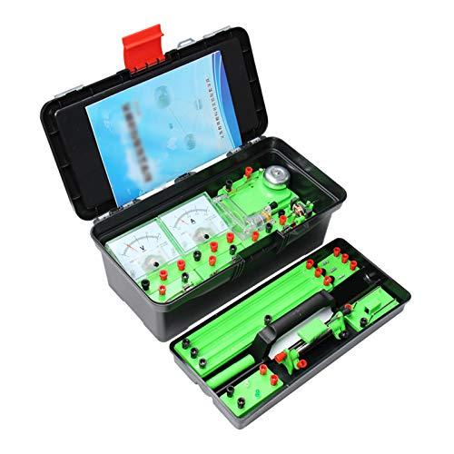 Huachaoxiang Physik Elektrizität Schaltungen Set, Pädagogische Elektronische Motor Kit Experimentierkasten Für Kinder Wissenschaft Experimente,Rosa