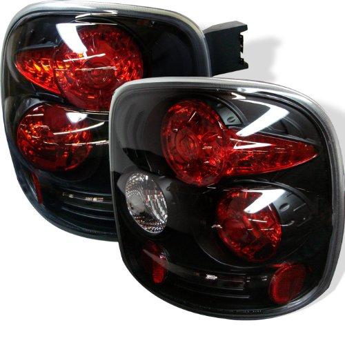 Euro Style Tail Light for Chevy Silverado Stepside 99-04 - Black Clear