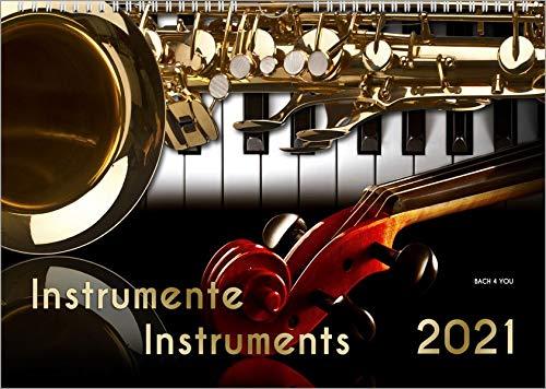 Musikinstrumente, ein Musik-Kalender 2021, DIN A3: Instrumente – Instruments