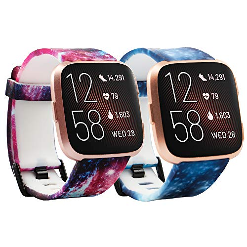 Compatible with Fitbit Versa/Versa 2/Versa Lite/Special Edition Bands Sport Strap Material Breathable Strap Bands for Fitbit Versa 2 Smart Fitness Watch Women Men Small Large
