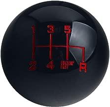 DEWHEL Fing Fast Shift Knob 6 Speed Short Throw Shifter M12x1.25 M10x1.5 M10x1.25 M8x1.25 (Black)