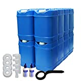 5-Gallon Stackable Water Container kit (80 Total Gallons), 16 Pack,...