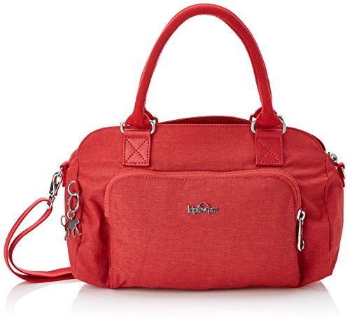 Kipling Alecto, Damen Umhängetasche, Mehrfarbig (Spark Red), 15x24x45 cm (W x H x L)