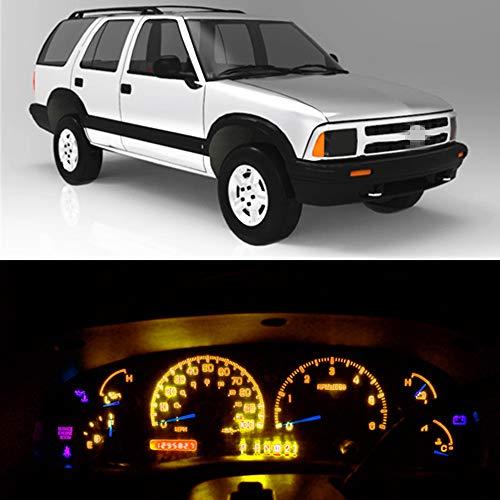 WLJH Zeer Helder Oranje Instrumentenpaneel streepje licht LED Gloeilampen lamppakketpakketten Lampen 12V voor 1995-1997 Chevrolet S10 Blazer,21 Stuks