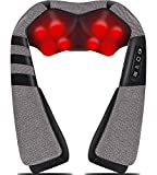 Back Massager,Shiatsu Back and Neck Massager with Heat,Electric Back Massage Pillow with 16 Deep Tissue Massage Nodes for Back,Neck,Shoulder,Legs,Foot,Body Muscle Pain Relief,Great Gifts for Men/Women