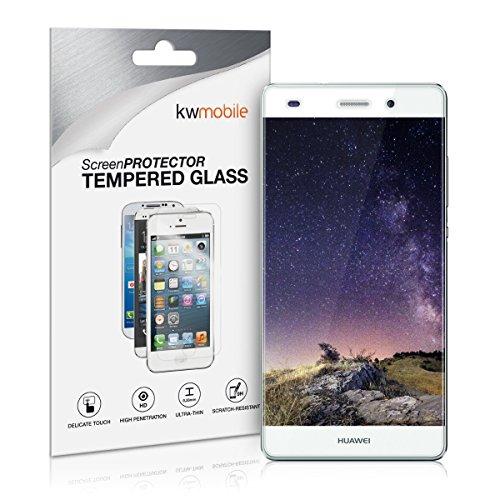 kwmobile Protector de Pantalla Compatible con Huawei P8 Lite (2015) - Cristal Templado Transparente - Vidrio para Display de móvil