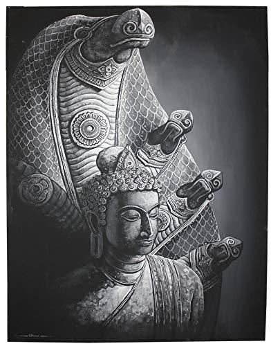 Farang Buddha sotto la Pittura Naga, Stile Khmer