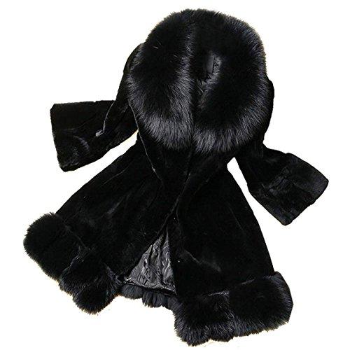 CRAVOG 2016 Damen Kaninchen Pelzjacke Winterjacke Sakko Fleecejacke Blazer Jacke Mäntel