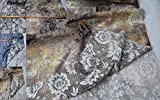 StoffBook Spitzenstoff BEFLOCKT Blumen Digitaldruck Spitze
