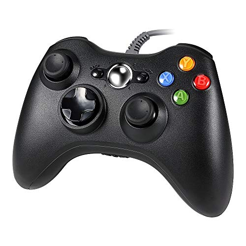 YANGSANJIN Wired Game Controller voor Xbox 360, Lavuky DA11 Wired Gamepad Controller voor Xbox 360 en PC (product van derden) Wired Controller USB-kabel Gamepads Compatibel met Xbox 360