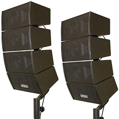 Earthquake Sound DJ-Quake - Altavoces de Matriz (10 x 10 cm, 2 Unidades), Color Negro