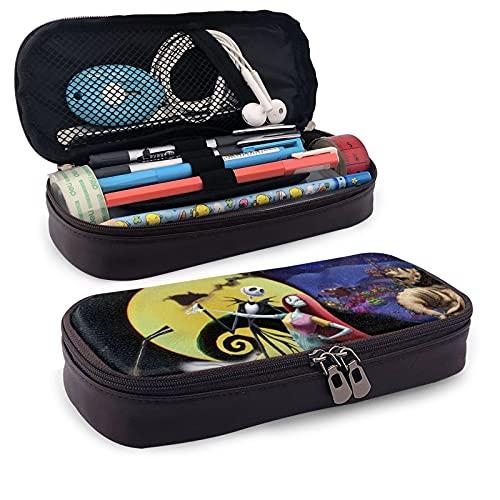JA-ck S-Kell-ington - Estuche para lápices, bolsa para bolígrafos, asa grande, organizador de escritorio, caja de marcadores de almacenamiento