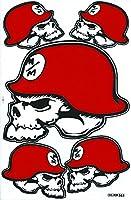ロックスター メタルマリーシャ ROOKSTAR METAL MULISHA ステッカー セット Sticker Set レッド Red TS-30R