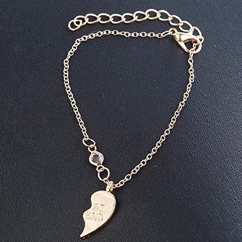 ZHIFUBA Co.,Ltd Necklace Woman Necklace Elegant Jewelry Unisex Necklace Best Friend Men Women Heart Pendant Necklace Couple Gold Color Chain Jewelry